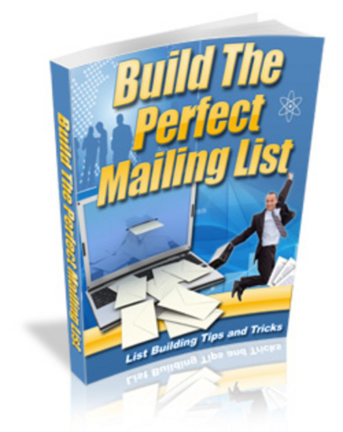 Product picture Building The Perfect Mailing List