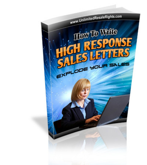 Product picture High Response Salesletters (Salesletter pdf)
